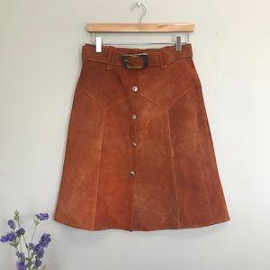 VTG 70's Suede Western Skirt